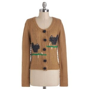 Modcloth Knitted Dove Crafter My Own Heart cardi